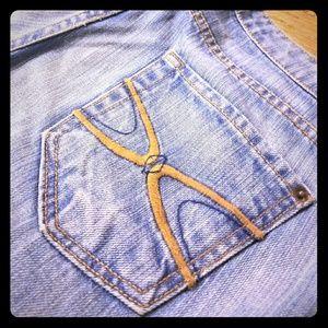 Long blue denim jeans - size 28